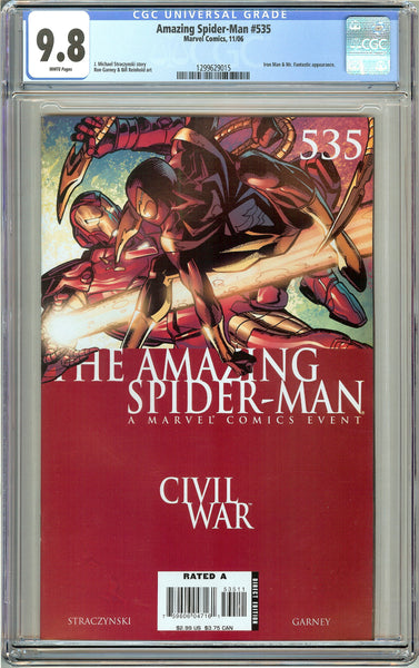 Amazing Spider-Man #535 CGC 9.8 White Pages 1299629015