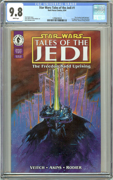 Star Wars Tales of the Jedi #1 CGC 9.8 White Pages (1994) 1299629018