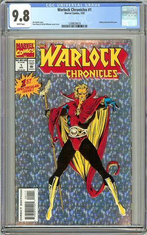 Warlock Chronicles #1 CGC 9.8 White Pages (1993) 1299629019