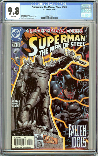 Superman The Man of Steel #105 CGC 9.8 White Pages 1299630002