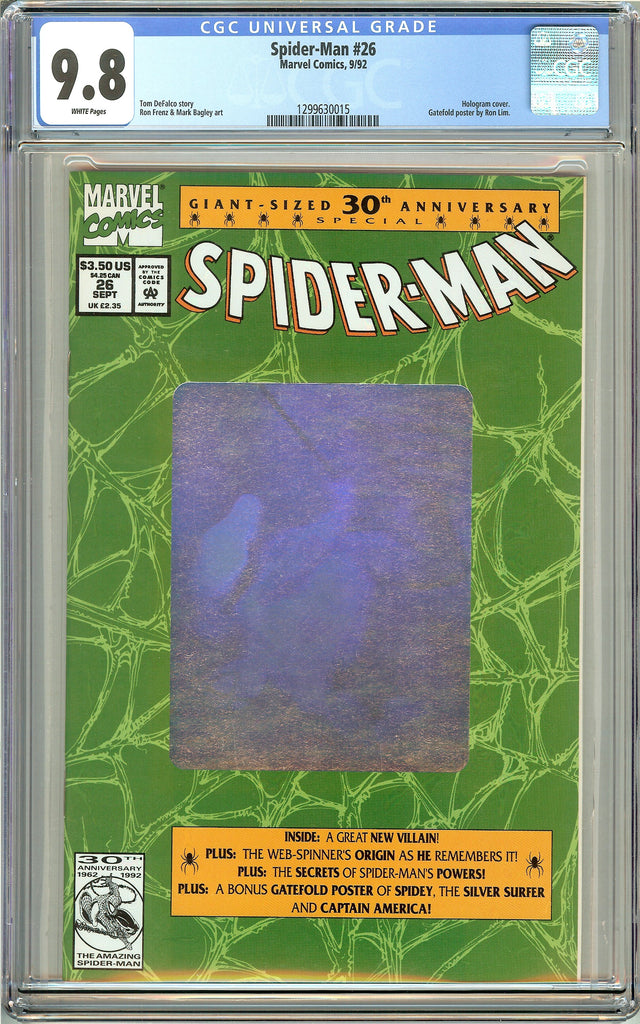 Spider-Man #26 CGC 9.8 White Pages (1992) 1299630015