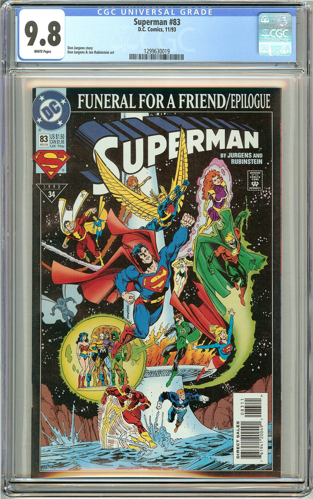 Superman #83 CGC 9.8 White Pages 1299630019