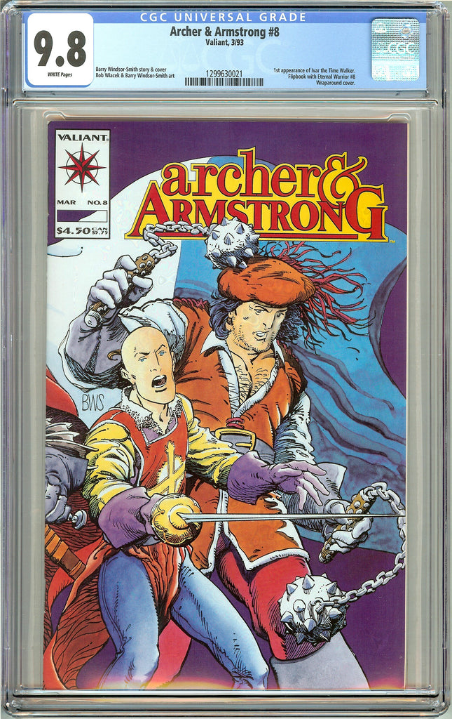Archer & Armstrong #8 Valiant CGC 9.8 White Pages 1st Timewalker 1299630021
