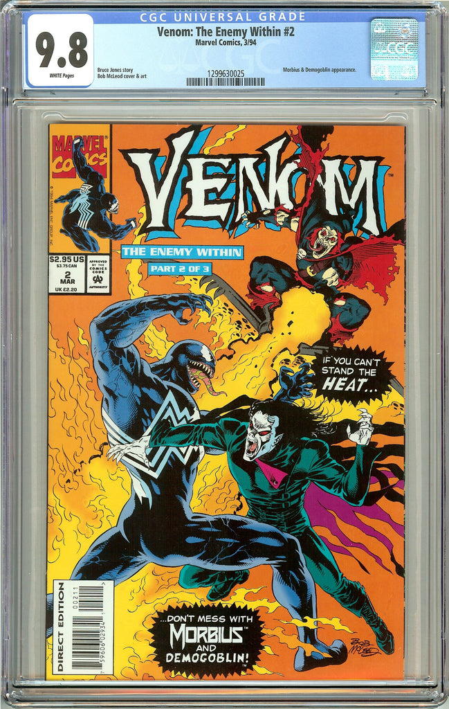 Venom The Enemy Within #2 CGC 9.8 White Pages 1299630025