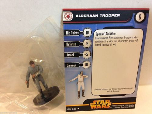 Star Wars Miniatures Revenge of the Sith 02/60 Alderaan Trooper (U)