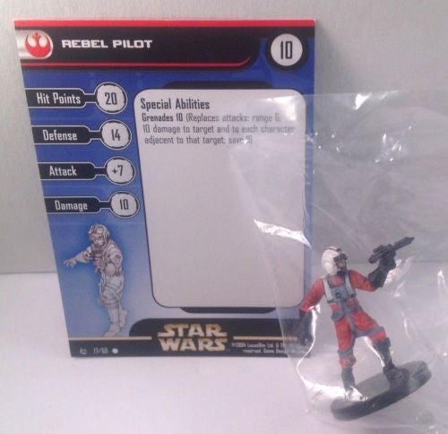 Star Wars Rebel Storm 17/60 Rebel Pilot (C) Miniature