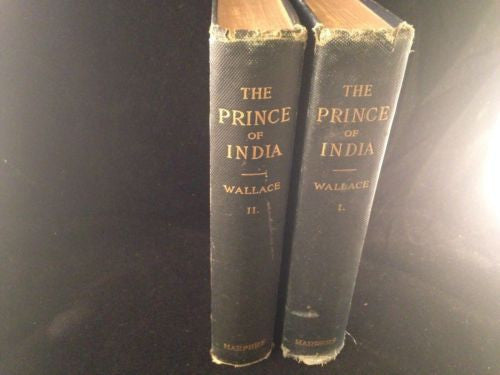 The Prince Of India By Lew Wallace 2 Volumes Gamers Place