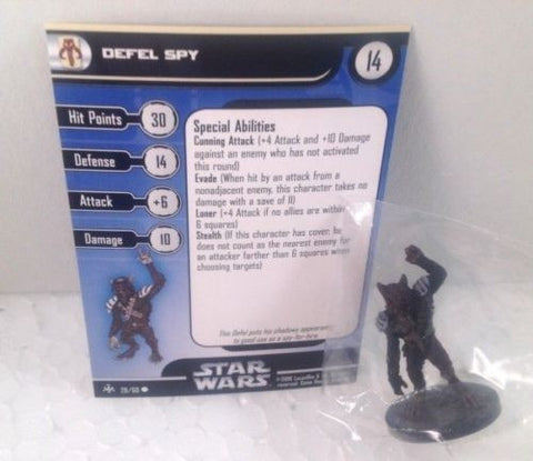 Star Wars Bounty Hunters 28/60 Defel Spy (C) Miniature