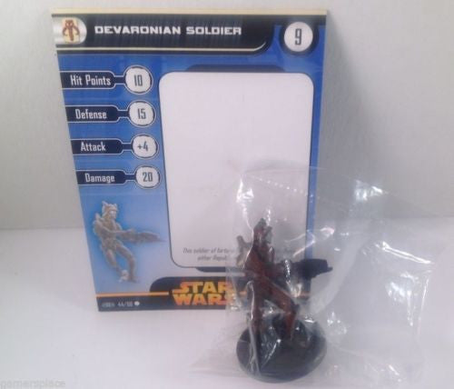 Star Wars Revenge of the Sith 44/60 Devaronian Soldier (C) Miniature