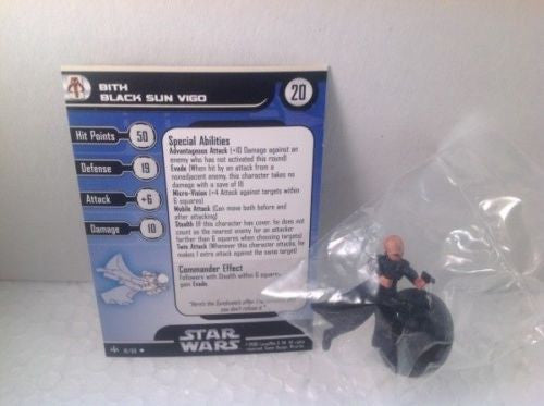 Star Wars  Bounty Hunters 18/60 Bith Black Sun Vigo (U) Miniature