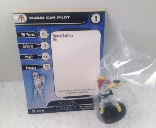 Star Wars Force Unleashed 49/60 Cloud Car Pilot (C) Miniature