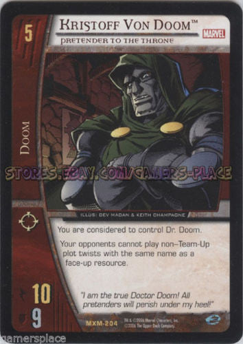 MXM-204 - Kristoff Von Doom - 4X - VS System - X-Men - Mint/NM - Unlimited Ed.