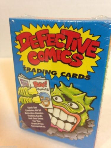 Defective Comics Trading Cards Set