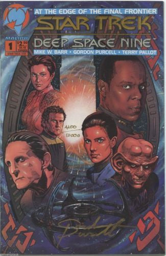 Star Trek Deep Space Nine #1 Comic Signed by Gordon Purcell COA 4100/10000