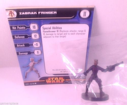 Star Wars Revenge of the Sith 55/60 Zabrak Fringer (C) Miniature