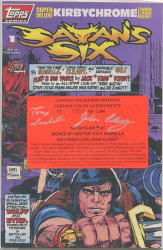 Satan's Six #1 Signed by Tony Isabella/John Cleary COA 1552/2000