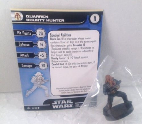 Star Wars Bounty Hunters 45/60 Quarren Bounty Hunter (C) Miniature