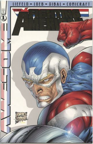 The Fighting American Gold Foil Logo Variant  Number 1 - 1997 - Awesome Comics
