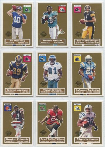 Topps Football 2005 Turn Back the Clock Partial Set Mint/NM ( 16 Cards )