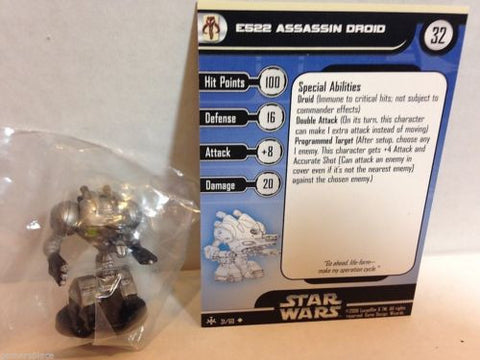 Star Wars Miniatures Bounty Hunters 31/60 E522 Assassin Droid (U)