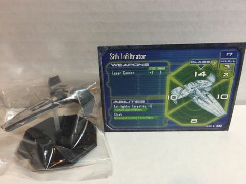Star Wars Starship Battles 41/60 Sith Infiltrator (U) Miniature