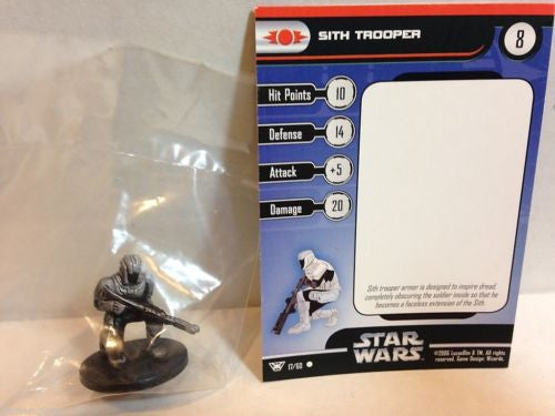 Star Wars Miniatures Champions of the Force 17/60 Sith Trooper (C)