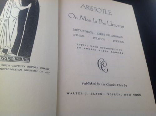 Aristotle On Man In The Universe First Edition 1943