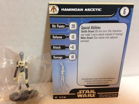Star Wars Miniatures Universe 20/60 Kamindan Ascetic (C)
