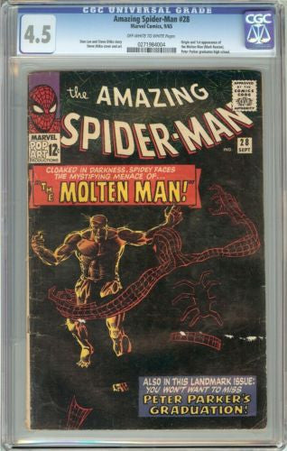 Amazing Spider-Man #28 (1965) CGC 4.5 Off-White to White Pages 0271984004