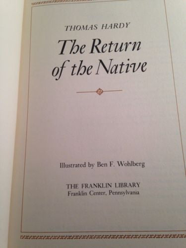Franklin Library THE RETURN OF THE NATIVE by Thomas Hardy