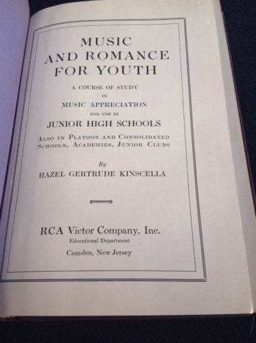 First Edition MUSIC AND ROMANCE by Kinscella