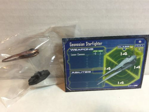 Star Wars Starship Battles 50/60 Geonosian Starfighter (C) Miniature