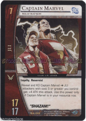 DJL-043 - Captain Marvel - 4X - VS System - Justice League - Mint/NM