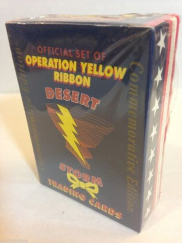 Official Set of Operation Yellow Ribbon Desert Storm Trading Cards