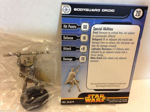 Star Wars Miniatures Revenge of the Sith 28/60 Bodyguard Droid (U)
