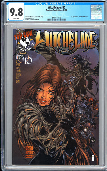 Witchblade #10 CGC 9.8 White Pages (1996) 3707774012 1st Jackie Estacado