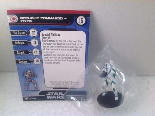 Star Wars Champions of the Force 34/60 Republic Commando Fixer (C) Miniature
