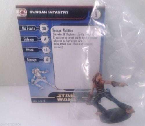 Star Wars Clone Strike 14/60 Gungan Infantry (C) Miniature