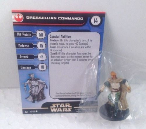 12X Star Wars Universe 46/60 Dressellian Commando (C) Miniatures