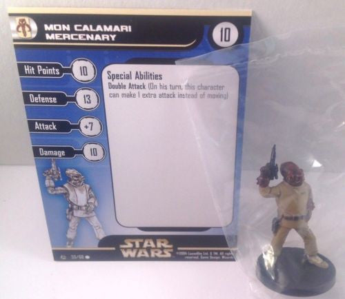 Star Wars Rebel Storm 53/60 Mon Calamari Mercenary (C) Miniature