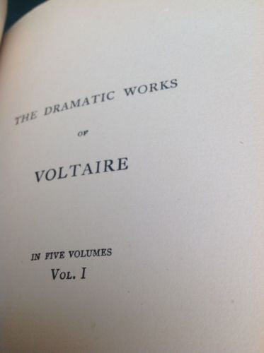 The Works of Voltaire, a Contemporary Version St Hubert Guild 4 VOL. RARE