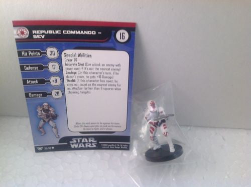 Star Wars Champions of the Force 36/60 Republic Commando - Sev (C) Miniature