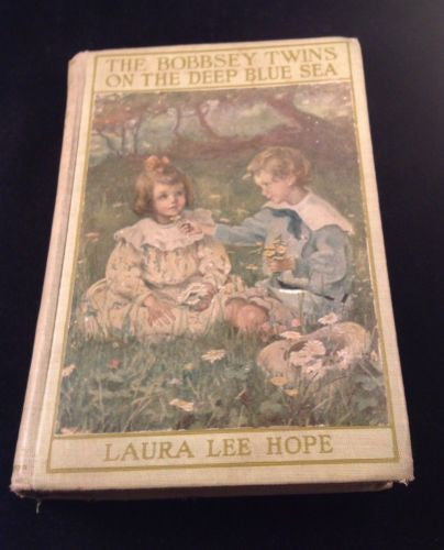 First Edition BOBBSEY TWINS ON THE DEEP BLUE SEA by Laura L. Hope Hardcover 1918