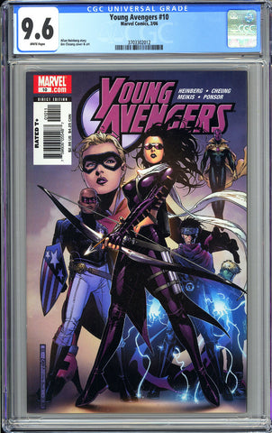 Young Avengers #10 CGC 9.6 White Pages 3703302012