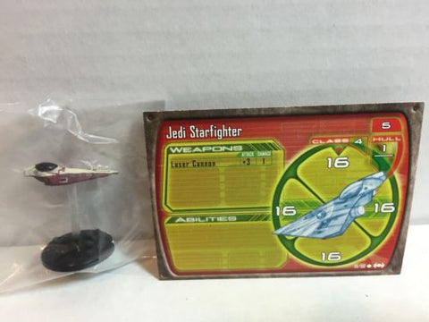 Star Wars Starship Battles 19/60 Jedi Starfighter (C) Miniature