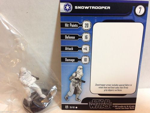 Star Wars Miniatures The Force Unleashed 39/60 Snowtrooper (C)