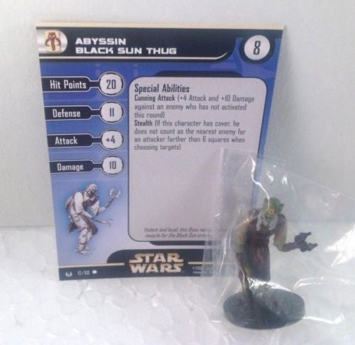 Star Wars Universe 12/60 Abyssin Black Sun Thug (C) Miniature