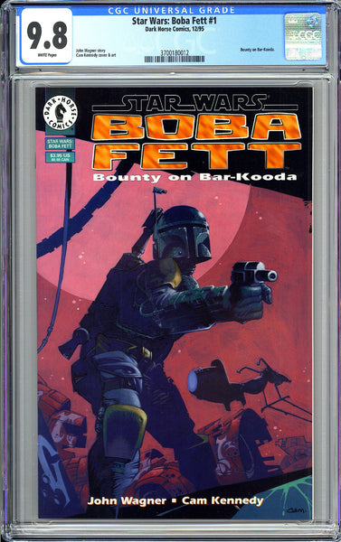 Star Wars: Boba Fett #1 CGC 9.8 White Pages (1995) 3700180012