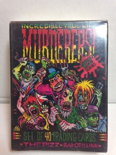 Incredible true life Murderers ! Trading Card Set