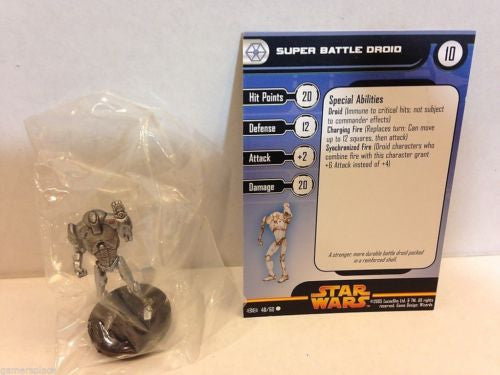 Star Wars Miniatures Revenge of the Sith 40/60 Super Battle Droid (C)